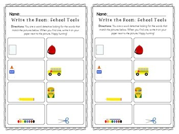 PreK-1 Back to School Differentiated Writing & Math Printables