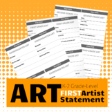 K, 1st, 2nd Beginning Artist Statement / Art Label