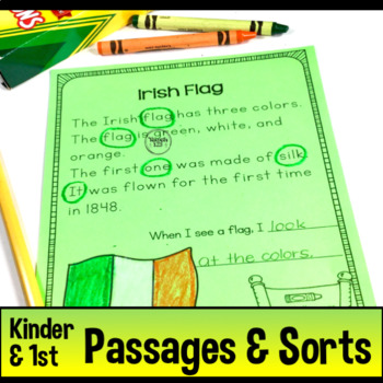 Reading Passages St. Patrick Kindergarten 1st Grade