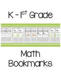 K & 1st Grade Math Bookmarks