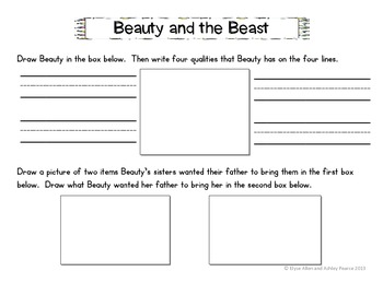 K & 1st Grade Reading Comp & Higher Order Thinking Worksheets over Fairy Tales
