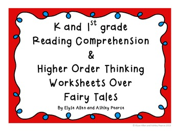 K & 1st Grade Reading Comp & Higher Order Thinking Workshe