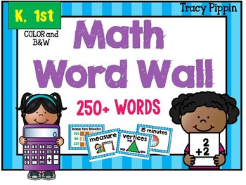 K-1st Math Picture Word Wall TEKS