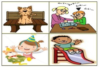 K-1st Phrases Picture Matching (16 Cards) Level E