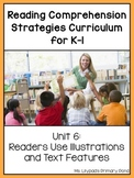 Reading Comprehension Lesson Plans for K-1 {Unit6:Text Features & Illustrations}