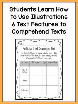 Reading Comprehension Lesson Plans for K-1 {Unit6:Text Features & Illustrations}