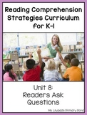 Reading Comprehension Lesson Plans for K-1 {Unit 8: Asking Questions}
