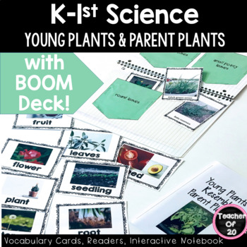 K-1st Science Predictable Reader: Young Plants Parent Plants