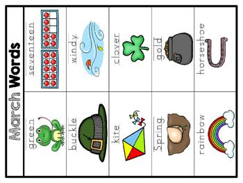 K-1st Spelling Choice Board (March)