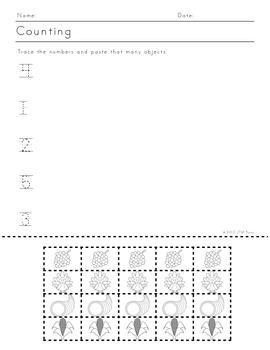 K-1st Thanksgiving Themed Math