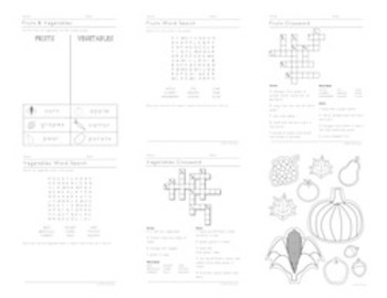 K-1st Thanksgiving Themed Worksheets