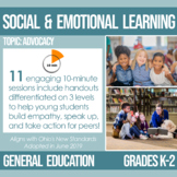 K-2 Advocacy Plans for Social and Emotional Learning