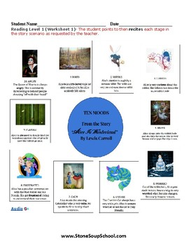 K-2 Alice in Wonderland-for Students w/ Learning Disabilities -Mood of the Story