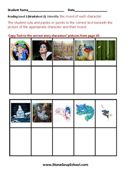 K-2 Alice in Wonderland-for Students w/ Physical Disabilities -Mood of the Story