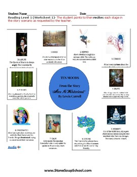 K - 2 Alice in Wonderland -  for Students with Autism  - Mood of the Story