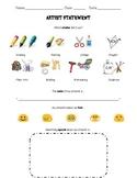 K - 2 Artist Statement Sheet
