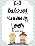 K-2 Balanced Numeracy Math Levels