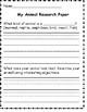 K-2 Bilingual Animal Research Paper Template / Ensayo de Animales