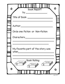 K-2 Book Report