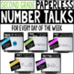 K-2 Bundle PAPERLESS Number Talks