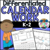 K-2 Differentiated Calendar Work for Morning Meeting & SMART Notebook File