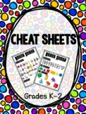 K-2 Cheat Sheets for Take Home Binders/Folders or Centers