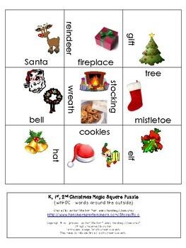 FREE Christmas Vocabulary Literacy Center Game