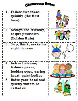 K-2 Classroom Rules
