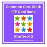 K-2 Common Core Aligned Math IEP Goal Bank