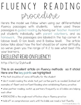 K-2nd | Differentiated | Reading Fluency Passages |Reading Comprehension