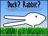 K-2 Duck! Rabbit!  Book Common Core Standard Opinion Writing Activities FUN!