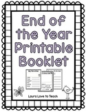 K-2 End of the Year Booklet