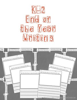 K-2 End of the Year Writing Paper