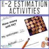 Estimation Worksheets: Includes Fall Math Activities or Apple Centers