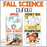 Fall Science Bundle Leaf, Apple, Pumpkin and Bee Science Activities