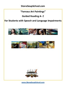 K - 2 Famous Art Paintings for Students w/ Speech or Language Disorders