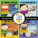 K-2 Famous Artist Art Project Unit Mini Bundle-Van Gogh, K