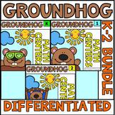 K - 2 Groundhog Day Math Bundle
