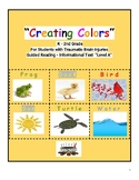"""Guided Reading Level A """"Creating Colors"""" for Students w/ Traumatic Brain Injury"""