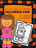 Halloween Packet / October Sub Plans for Grades 1-3
