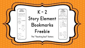 "K - 2 ""I found it"" Story Elements Bookmarks"