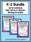 K-2 Informational, Narrative, and Opinion Writing Prompts BUNDLE