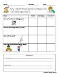 K-2 Informational Writing Checklist