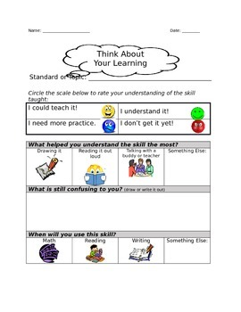 K-2 Learning Logs