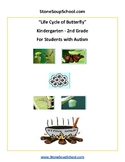 K - 2  -  Life Cycle of Butterfly - Autism Spectrum - Reading -