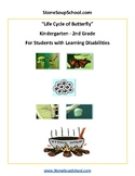 K - 2 Life Cycle of Butterfly for Students with Learning Disabilities