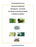 K - 2 Life Cycle of Butterfly -  Mental Health or Medical Conditions - Science
