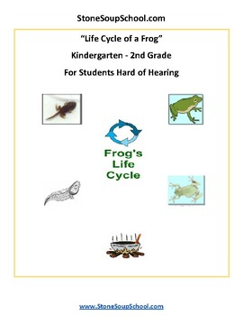 K - 2  Life Cycle of Frog -  with Hearing Impairments - Science