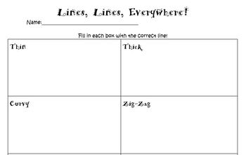 K-2 Line Practice Worksheet