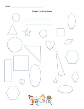 FREE K-2 Listening Activity for Shapes/Colors - Great for ESL/ELL Newcomers!